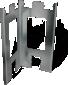 PL1-beslag, 43,5 cm højt, pris pr. stk.
